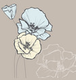 floral greeting card in pastel colors vector image vector image