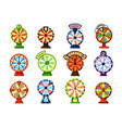 fortune wheels flat color set vector image