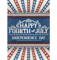 Fourth of july greeting card vector image vector image
