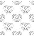 German pretzels seamless pattern on white vector image vector image