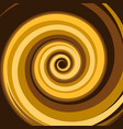 gold caramel colored twirl spiral abstract vector image