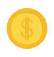 gold coin money with dollar sign symbol cash vector image vector image