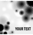 Halftone pattern on white vector image vector image