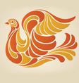 hippy dove vector image vector image