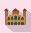 hystorical building icon flat style vector image