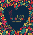 I love autumn design with heart vector image