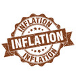 inflation stamp sign seal vector image vector image