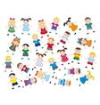 Jumping childrens vector image vector image