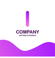 l company logo design with purple theme vector image