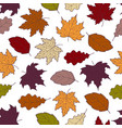 leaves seamless fall 2 vector image vector image