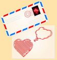Love letter for valentines day vector image vector image