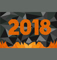 low poly 2018 vector image