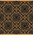 luxury ornamental background damask floral vector image vector image