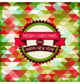 Merry Christmas background for invitation card vector image vector image
