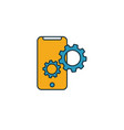 mobile friendly icon simple element from seo vector image vector image