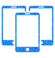 mobile phones grunge icon vector image vector image