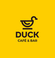 modern professional sign logo duck cafe vector image vector image