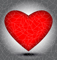 Mosaic heart tiles vector image