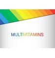 multi vitamin mineral complex supplement label vector image vector image