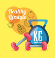 nice weights tools to do exercise and carry vector image vector image