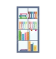 Office Bookcase with Folders vector image vector image