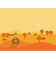 Orange Seamless Cartoon Nature Landscape vector image vector image