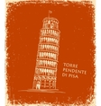 Piza Tower travel concept vector image vector image