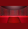 red stage and spotlight in hall vector image vector image