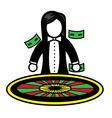 roulette dealer vector image vector image