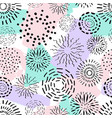 seamless pattern with different ink circles and vector image vector image