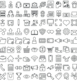 Set of business outline icons for design vector image vector image