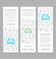 set of car service and auto repair vertical vector image