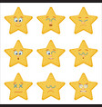 set of emoticons flat style vector image