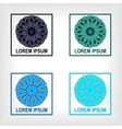 set of round geometric symbol vector image vector image