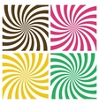 Set of Swirling Radial Backgrounds vector image