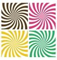 set swirling radial backgrounds vector image