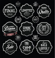 silver premium quality and guarantee labels with vector image vector image