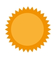 sun summer isolated icon vector image vector image