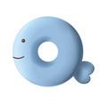 sweet donut font letter q cartoon vector image vector image