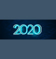 technology style happy new year 2020 banner design vector image