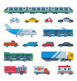 transport public transportable bus plane or vector image vector image