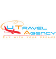 travel agent logo vector image