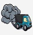 truck exhaust fumes vector image vector image