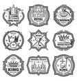 vintage monochrome imperial labels set vector image vector image