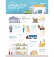 Warehouse Infographics Set vector image vector image