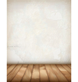 White Plaster Wall Wood Floor vector image vector image