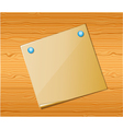 Wood texture with paper vector image vector image