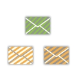 icons envelopes vector image