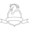 horse shield vector image