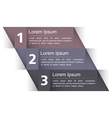 Modern Design Template with Three Elements vector image